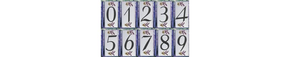 Numéro de Rue et Maison décor les lavande