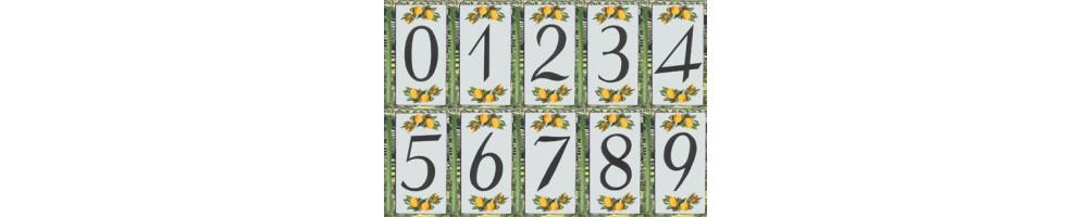 Numéro de Rue et Maison décor citrons