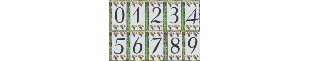 Numéro de Rue et Maison décor de raisin