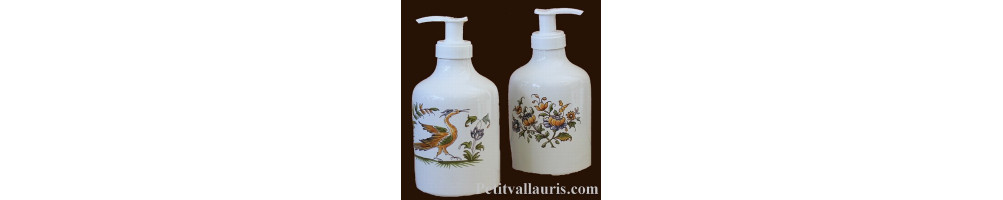 Distributeur de savon liquide en faience fabriqué en France