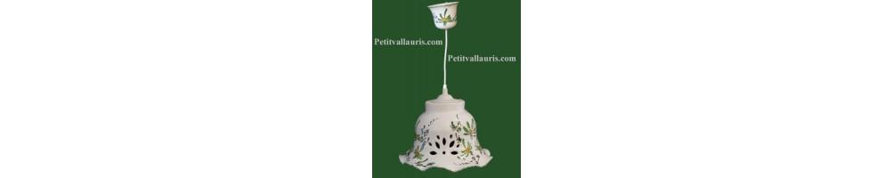 Lustres décor fleurs de couleurs