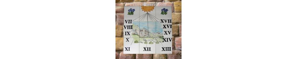 Cadrans Et Panneaux Solaire Muraux En Faience Le Petit Vallauris