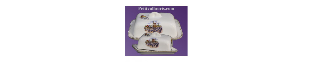 Beurrier en faience