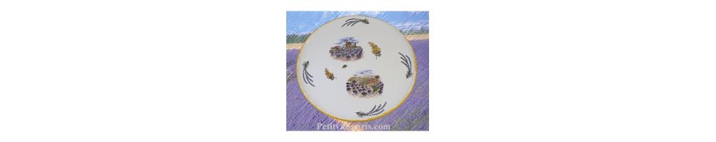Plats décor Provence en faience