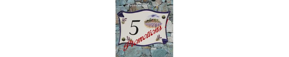 Plaque de maison Fin de série & Promotion