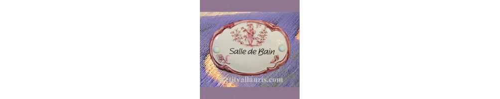 Inspiration Moustiers (plaque de porte intérieure en céramique)
