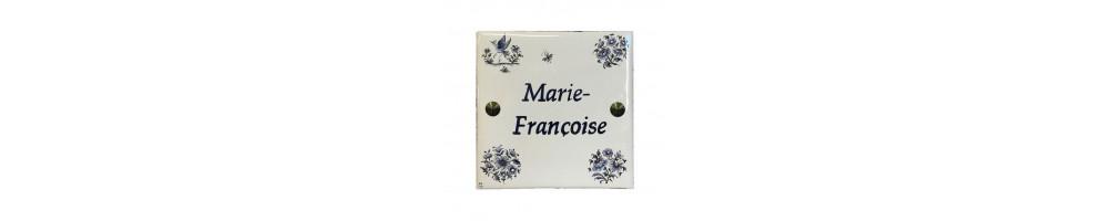 Grande plaque carrée (23 x 23 cm) pour l'extérieur avec marquage et motifs personnalisable