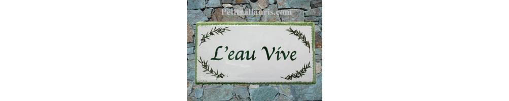 Provence-Méditérranée plaque-14x28 cm-en-ceramique-emaillée