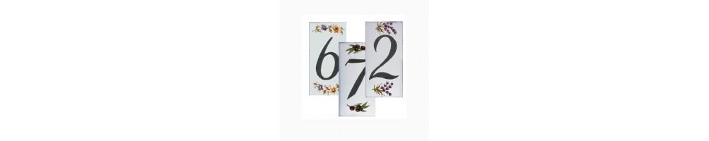 numero de rue et de porte pour maison en ceramique avec chiffre et lettre le petit vallauris. Black Bedroom Furniture Sets. Home Design Ideas