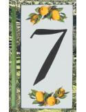 Numero de rue chiffre 7 décor Citrons
