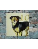 Plaque en céramique personnalisable avec photo de mon animal (n°1)