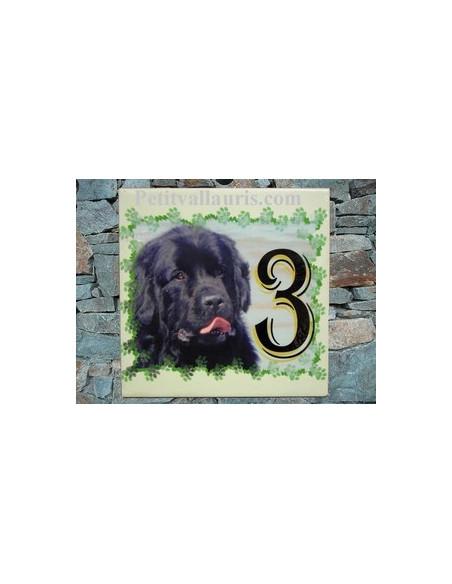 Plaque en céramique 15x15 cm personnalisable avec photo de mon animal (n°2)