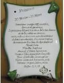 Plaque parchemin Horoscope en céramique (Le Petit Vallauris)