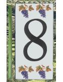 Numero de rue 8 décor grappe de raisin