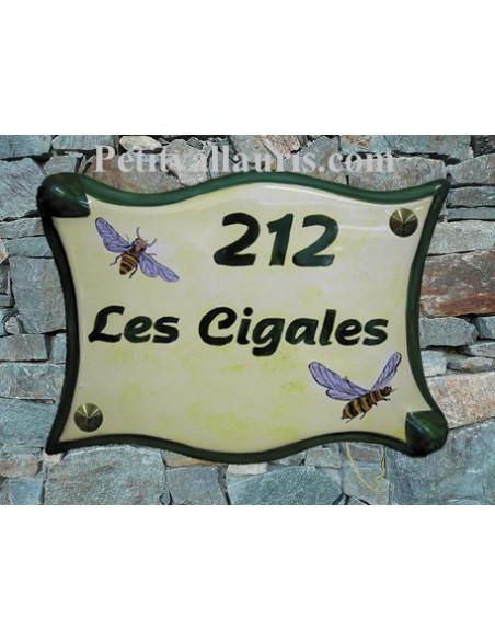 Grande Plaque modèle parchemin pour maison décor artisanal cigales du sud + personnalisation