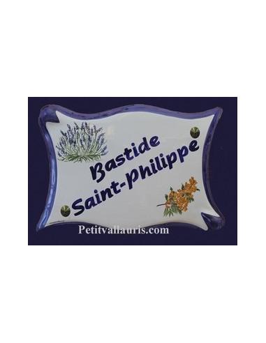 Plaque parchemin pour maison décor personnalisé Bouquet de lavande et mimosas