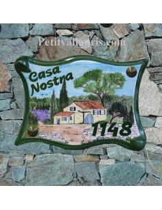 Plaque parchemin pour maison décor personnalisé Bastide Provençale
