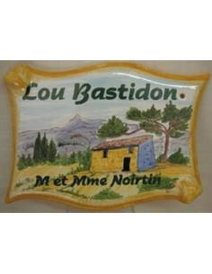 Plaque parchemin pour maison décor personnalisé Bastidon et Garlaban