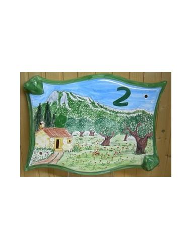 Plaque parchemin pour maison décor personnalisé Coudon face-est