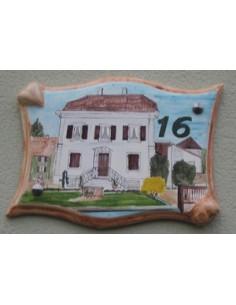 Plaque pour villa parchemin décor personnalisé Maison Alsacienne