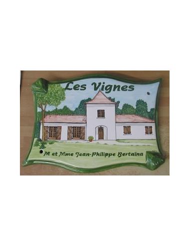Plaque pour villa parchemin décor personnalisé maison de Bourgogne