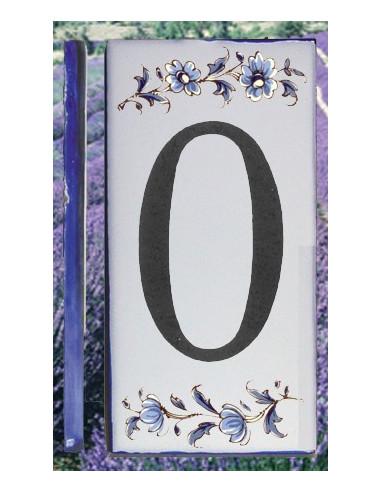 Numero de rue chiffre 0 décor tradition vieux moustiers bleu
