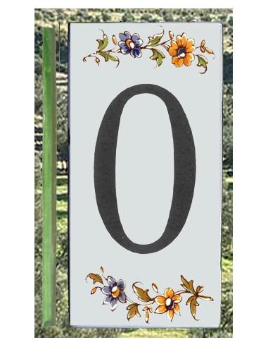 Numéro de Rue et Maison chiffre 0 décor tradition Moustiers