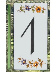 Numéro de Rue et Maison chiffre 1 décor tradition Moustiers