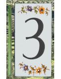 Numéro de Rue et Maison chiffre 3 décor tradition Moustiers