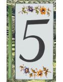 Numéro de Rue et Maison chiffre 5 décor tradition Moustiers