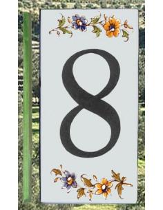 Numéro de Rue et Maison chiffre 8 décor tradition Moustiers