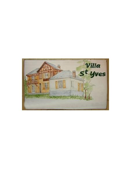 Plaque en céramique émaillée forme rectangle décor artisanal Maison Boiserie des Alpes