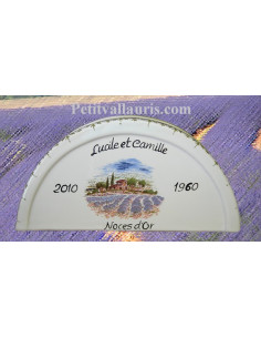 Porte serviette de table personnalisé décor champs de lavandes