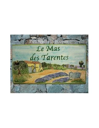 Plaque de maison décor Bastide et Charette Provençale