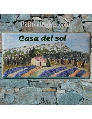 Plaque de maison décor Mont Coudon face Sud en Provence