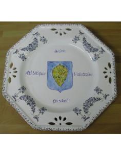 Assiette avec décor Tradition Vieux Moustiers pour collectivité ou association