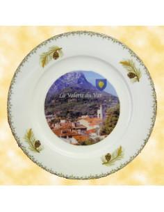Assiette avec photo personnalisée en porcelaine filets spécial évènement