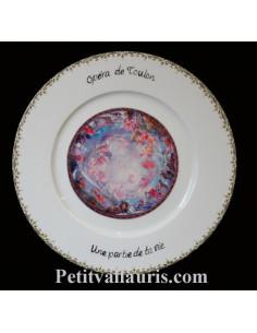Assiette en porcelaine avec photo personnalisée plafond opéra