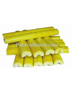 Listel fin ou corniche émaillée couleur unie jaune