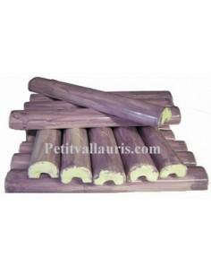 Listel fin ou corniche émaillée couleur violet mauve