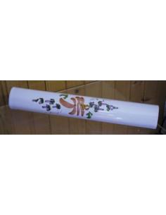 Listel large ou corniche émaillée fleuri beige saumon