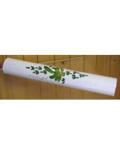 Listel large ou corniche émaillée fleur verte