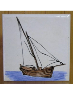 Carrelage décor Tartane 10 x 10 cm