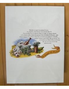 Carreau décor Soupe au Pistou 12.5 x 22 cm