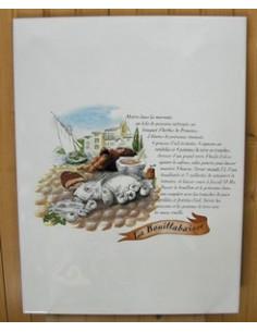 Carreau décor Le Bouillabaisse 25 x 33 cm