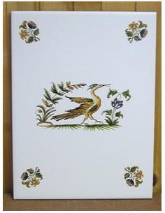 Carreau décor Tradition Vieux Moustiers polychrome 15 x 20 cm