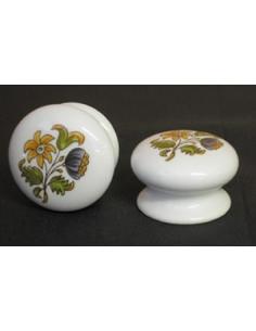 Bouton de tiroir meuble décor Tradition Vieux Moustiers (diamètre 35 mm)