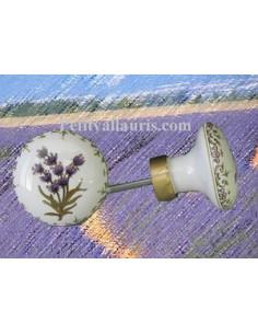 Bouton de placard décor Lavande (diamètre 50 mm)