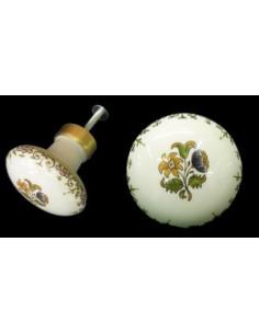 Bouton de placard décor Tradition Vieux Moustiers polychrome(diamètre 50 mm)