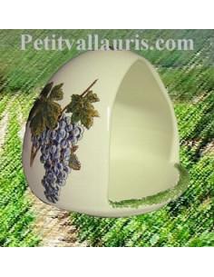 Cache éponge décor Grappe de raisin